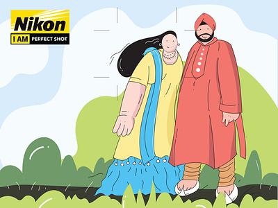Nikon Perfect Shot Illustration vector drawing vectorart illustration design