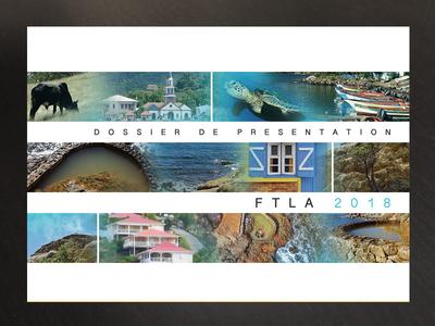 caribbean touristic presentation brochure