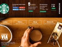 Starbucks Homepage