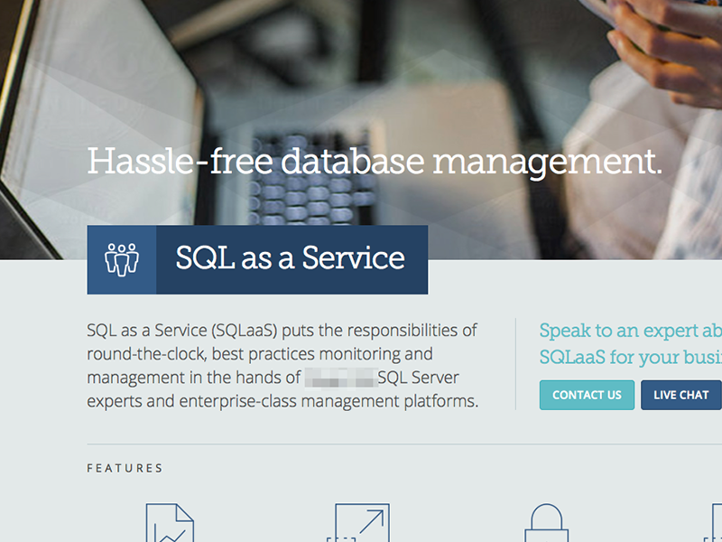Campaign Landing Page - IT it cloud sql database aqua museo slab open sans