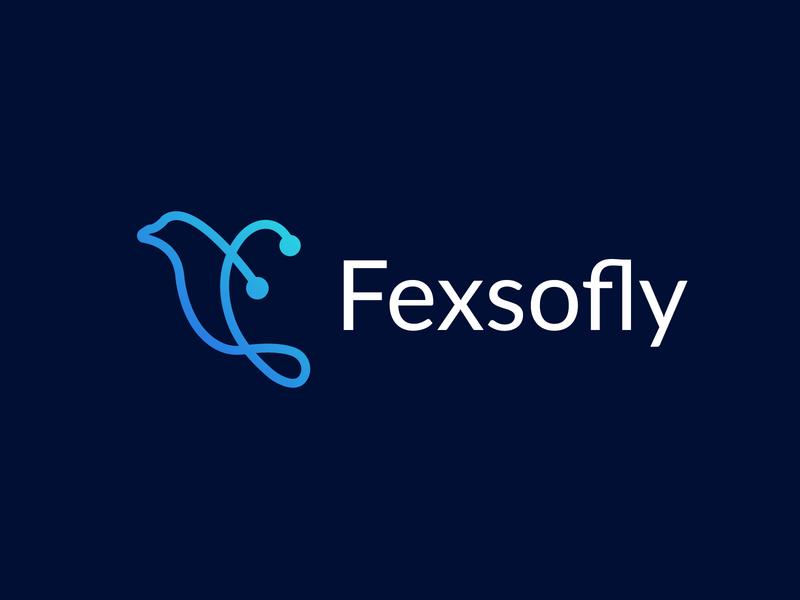 fexsofly tecnology brand  l bird logo