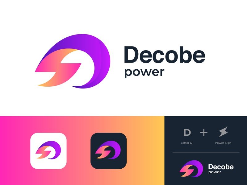 d letter logo l d modern logo with power concept gradient logo graphic design logo a day logo concept letter d modern logo letter logo design logos solar power logotype logo design gradient logo agency logo mark abstract morden typogaphy branding brand identity