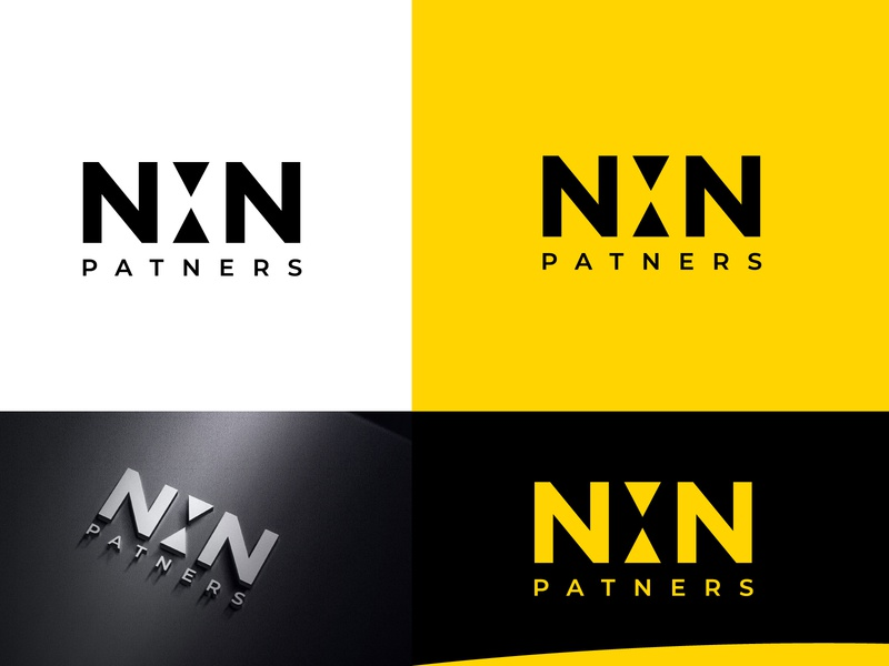 nxn typography logo l creative logo black and yellow black and white yellow simplicity simple logo logotype creative logo design creative agency creative logo n letter logo x letter logo vector logo mark typogaphy morden branding brand identity