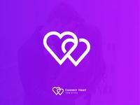 heart logo l dating logo dating dating logo professional logo creative logo simple logo line art connected heart logo love vector logo design gradient logo agency logo mark typogaphy morden branding brand identity
