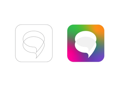 chat apps icon design online logo desiner hire icon designer chatting chat app icon design app mobile apps icon design logo agency apps website technology abstract branding morden brand identity