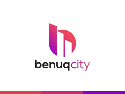 benuqcity logo brand mark creative design unique logo flat logo designs logodesign logo design concept developers real estate logo realestate home building logos b logo b letter logo logo agency logo mark abstract branding brand identity