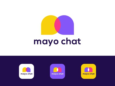 chat app icon logo massage chat colorful simple design eye catching memorable minimal elegant responsive design ios app icon design ios mobile app icon mobile app modern icon internet technology logo agency morden branding brand identity