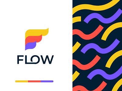 flow logo design branding colors tech logo logos modern logos f logo f letter logo pattern pattern design flow logo flow modern logo logo design gradient technology abstract logo mark logo agency branding brand identity