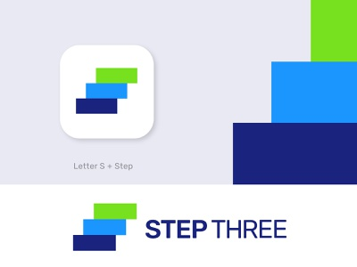 step three best logo best designer life efficient growth talents awesome logo pattern s logo s letter step three conceptual meaningful logo memorable abstract morden logo agency branding brand identity