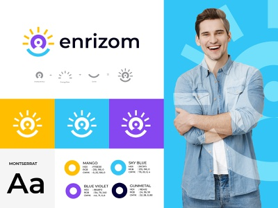 entrepreneur logo design modern design entrepreneur idea energy smile abstract n o p q r s t u v w x y z a b c d e f g h i j k l m popular best logo creative dynamic meaningful logo conceptual logo design concept vector logo mark morden branding brand identity