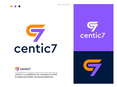 centic7 monogram best logo mark flat minimul modern logo hire logo designer graphic design professional logo travel freelancer abstract logo design illustration morden logo mark logo agency branding brand identity