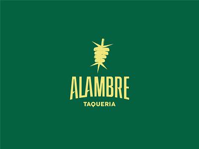 Alambre Logo tasty logos logo idea logo design tacos pastor food taco beard wire wire mexican restaurant mexican food taqueria tacos typography brand identity icon logo branding