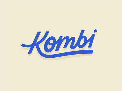 Kombi Food Truck - Logo combi food logo food truck k kombi typography logo illustration lettering