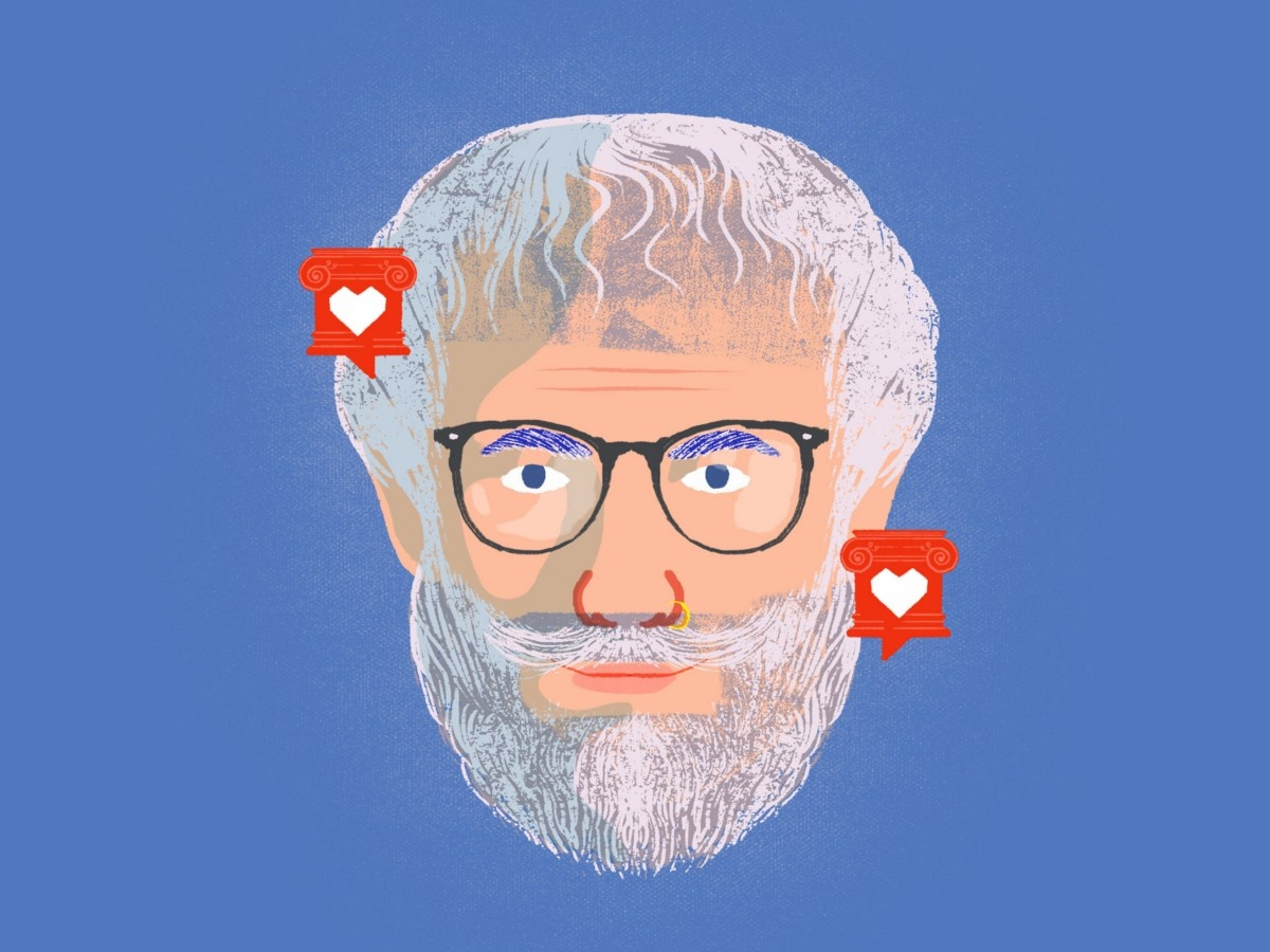 Aristotle for influencers influencer article medium design article illustration illustration