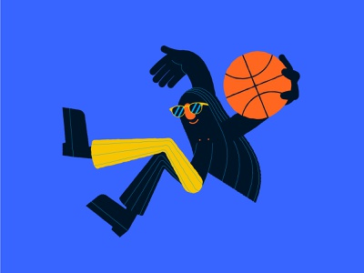 The Dunk player sports play jump illustration basketball