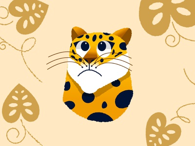 Jaguar gold nature illustration nature illustraion jaguar