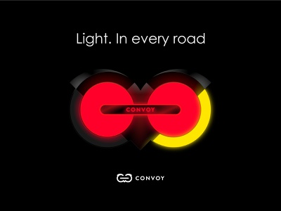 Convoy Bike Light dark minimal app product bike light branding urban design