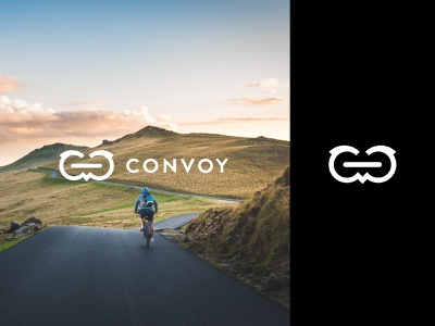Convoy logo / icon identity brand identity brand brand design vector logo icon black app branding urban design