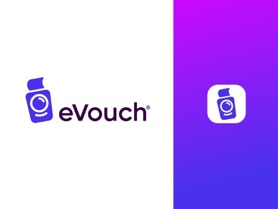 eVouch Logo illustration branding vector app logo icon
