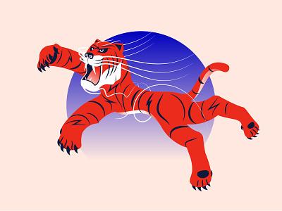 Tiger character animal illustration animals vector illustration tiger