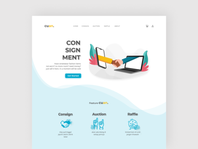 CUAN. - Consignment Landing Page