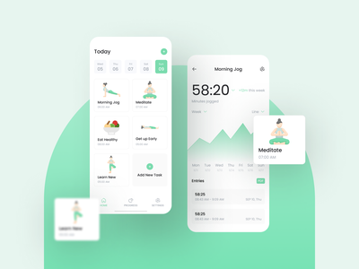 Meditation App UI mobile ui mobile design intarface mobile app design physiotherapy relaxing yoga app ios app design meditation app uidesign daily ui app ui meditation