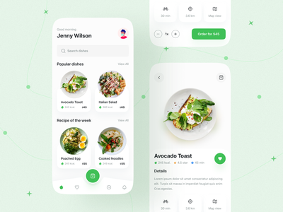 Food iOS App appdesign clean ui minimalist dribbble best shot 2021 trend food design food delivery application restaurant app popular design trendy ios application food delivery service food delivery minimal mobile mobile design mobile app food and drink food app