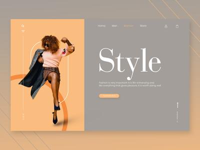 Simple And Minimalistic Web Header Design