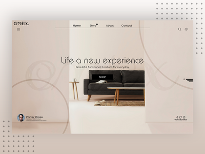 Simple And Minimalistic Furniture Web Header Design (OMEX)