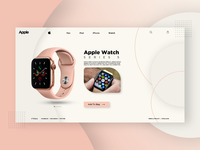 Apple Watch Series 5 Landing Page UI