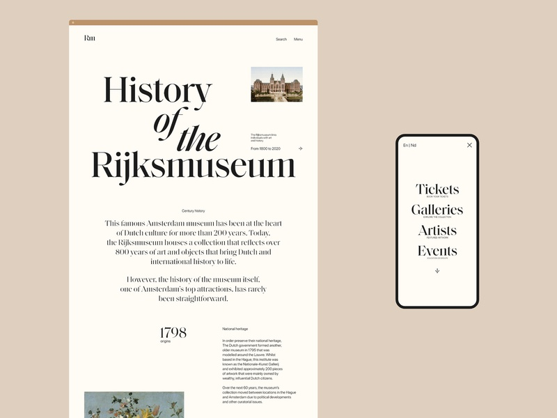 Rijksmuseum Amsterdam type web ui minimal typography website design