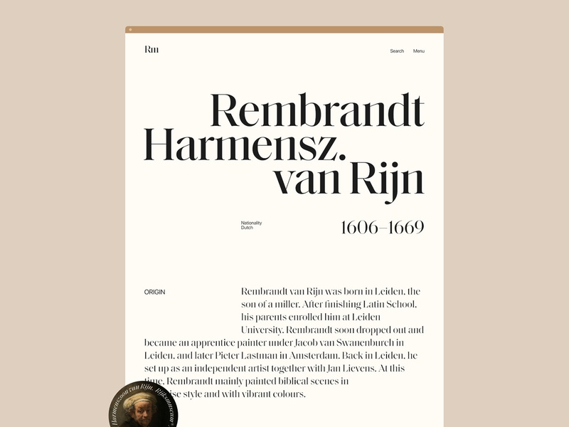 Rijksmuseum Amsterdam type web flat ui minimal typography website design