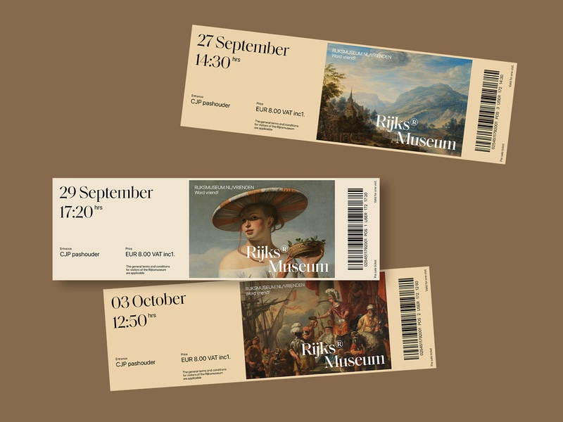 Rijksmuseum flat web ui minimal typography website design