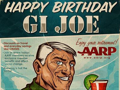 Happy Birthday GI Joe gi joe birthday tycoon creative inktycoon mike ray ink tycoon vector illustration design gi joe
