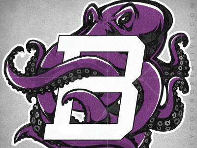 Kraken mascot sport mascot kraken octopus squid sketch vector mike ray ink tycoon tycoon creative school identity branding