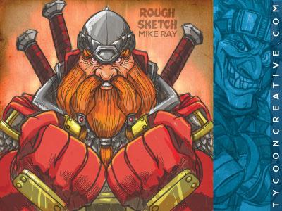 Dwarf - rough sketch dwarf rough sketch ipad game deck building mike ray tycoon creative ink tycoon vector illustration fantasy goblin