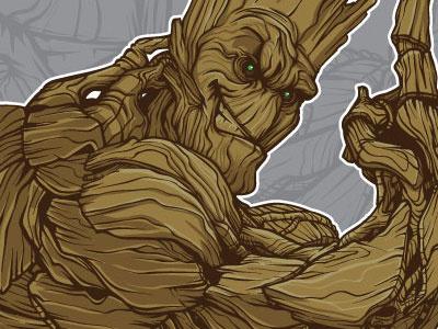 I Am Groot groot jack kirby vector mike ray tycoon creative guardians of the galaxy hero initiative kirby 4 heroes