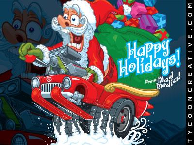 Ratfink Christmas tycoon creative hotrod holiday ratfink christmas santa clause santa