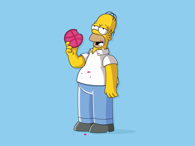 Thank you thank you doh yummy illustration simpsons homer