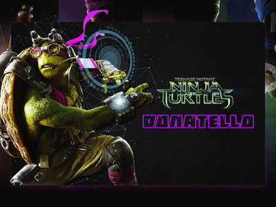 Ninja Turtles photoshop purple ui challenge donatello info card ninja turtles