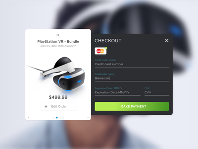 002 Credit Card Checkout sketch daily ui playstation vr playstation checkout credit card