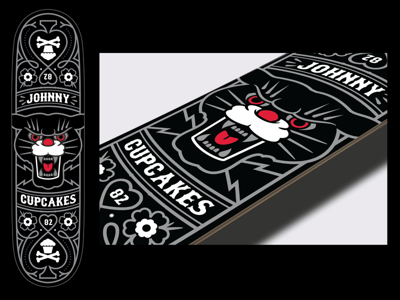 Panther Deck deck skateboard graphic design graphicdesign vector tattoo illustration design johnny cupcakes johnnycupcakes