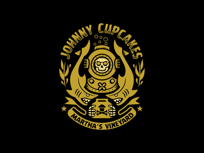 Johnny Cupcakes MV Diver shark diver graphicdesign vector graphic design tattoo design illustration johnny cupcakes johnnycupcakes