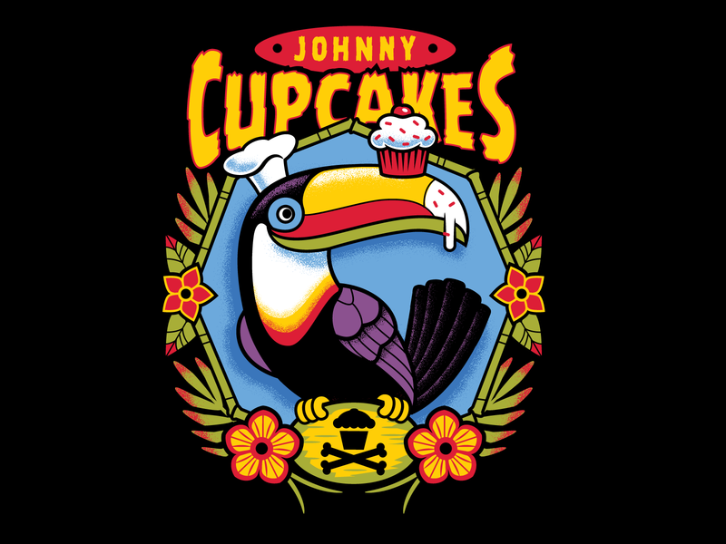 Johnny Cupcakes Tucan bird tropical tucan graphic design graphicdesign design tattoo illustration vector johnny cupcakes johnnycupcakes