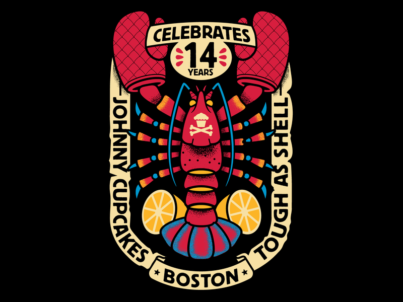 Johnny Cupcakes Lobster boston lobster graphic design graphicdesign tattoo design illustration vector johnny cupcakes johnnycupcakes