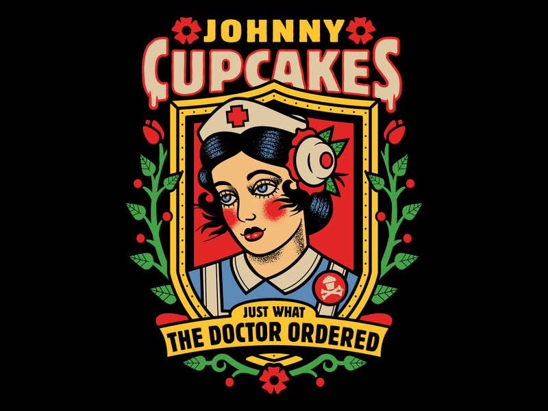 Johnny Cupcakes Nurse doctors doctor nurses nurse graphic design graphicdesign tattoo design illustration vector johnny cupcakes johnnycupcakes