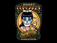 Johnny Cupcakes Suavecito Collab Tee barber shop barbershop barber suavecito skull graphic tattoo graphic design graphicdesign design illustration johnny cupcakes vector johnnycupcakes