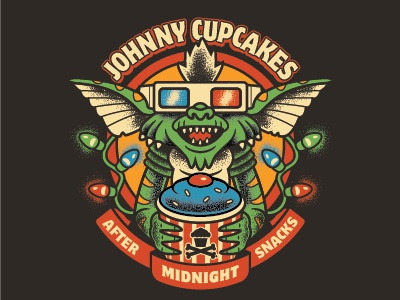 Johnny Cupcakes Midnight Snacks traditional christmas 80s gremlines johnnycupcakes
