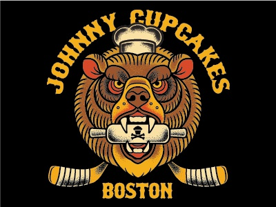 Johnny Cupcakes Boston Bear baking dessert food chef hockey bears bear bruins johnny cupcakes boston johnnycupcakes