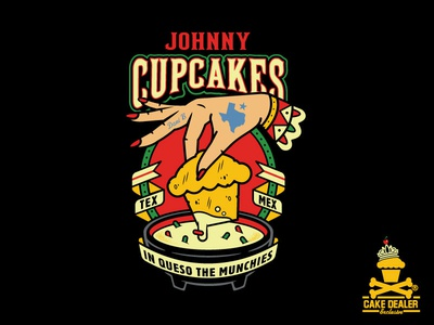 In Queso Munchies illustration vector baking design cupcakes dessert johnny cupcakes johnnycupcakes